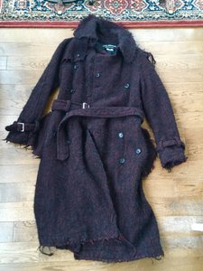 Junya Watanabe Tweed Raw Edge Comme Des Garcons Boucle Trench Coat