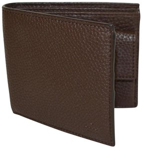 Gucci NIB GUCCI MEN'S COCOA LEATHER BIFOLD WALLET MADE IN ITALY