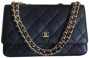 Chanel Handbag Wallet Caviar Leather Cross Body Bag