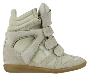 Isabel Marant Beige Suede and Leather Wedges