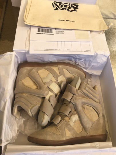 Isabel Marant Beige Suede and Leather Wedges Image 1