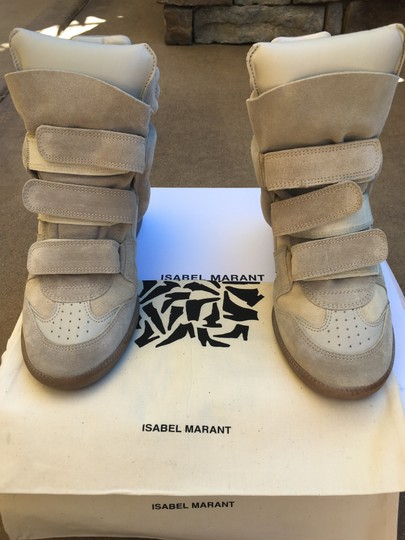 Isabel Marant Beige Suede and Leather Wedges Image 10