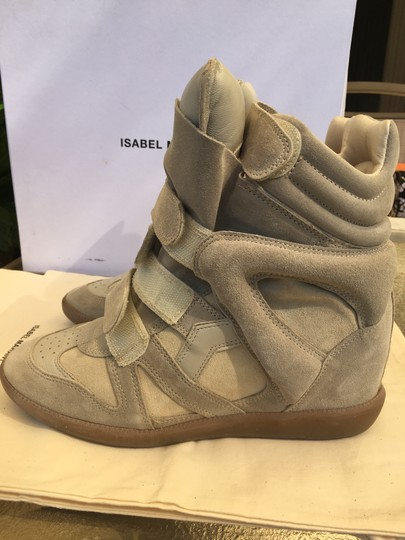 Isabel Marant Beige Suede and Leather Wedges Image 11