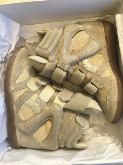 Isabel Marant Beige Suede and Leather Wedges Image 2