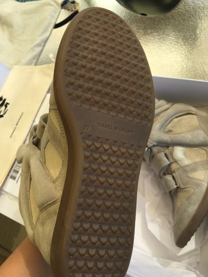 Isabel Marant Beige Suede and Leather Wedges Image 3