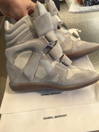 Isabel Marant Beige Suede and Leather Wedges Image 5