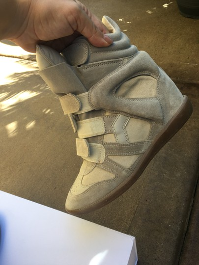 Isabel Marant Beige Suede and Leather Wedges Image 7
