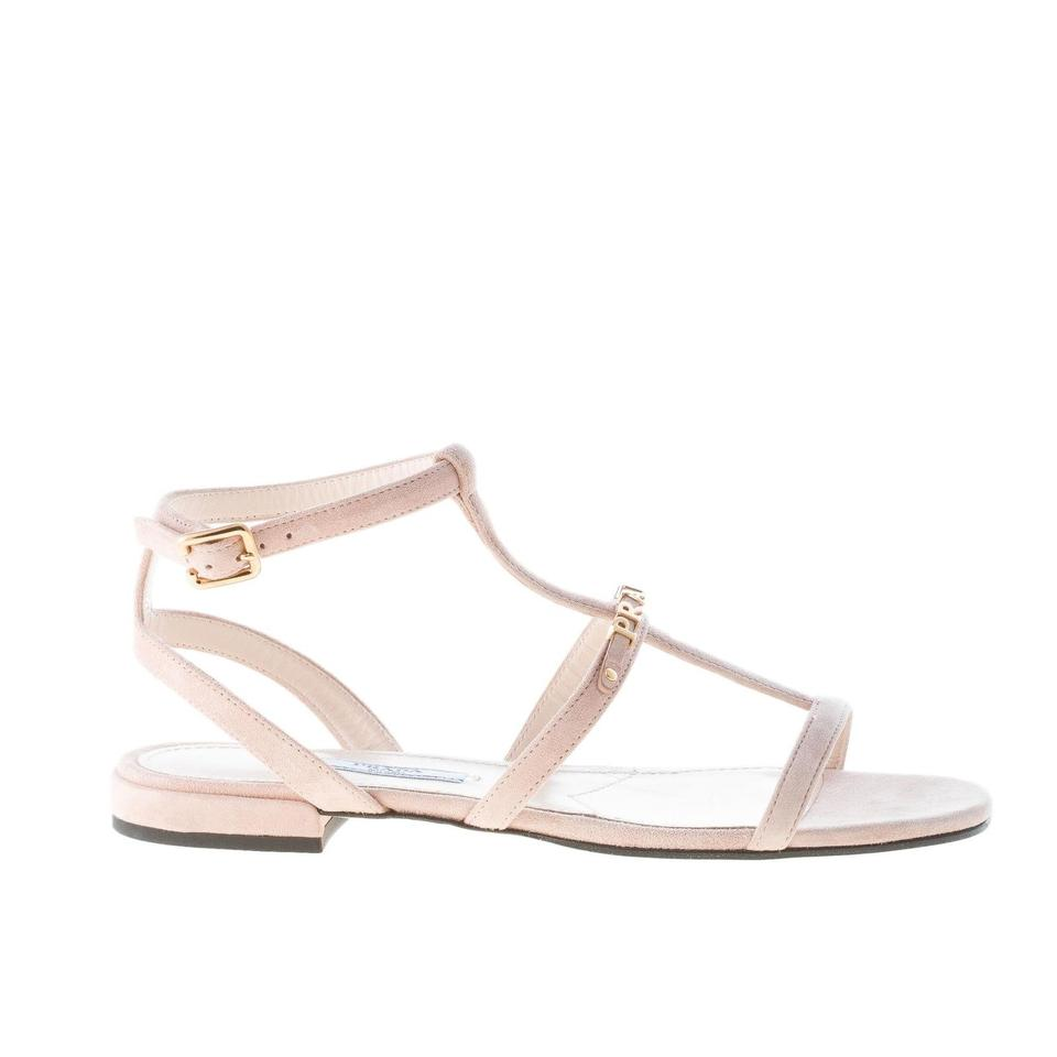 e929b31845cd Prada Nude Flat with A T-strap Ankle Strap Sandals Size EU 36.5 ...