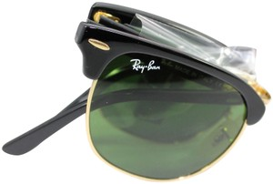 Ray-Ban Ray-Ban RB2176 Clubmaster Folding 901 black/gold G15 green lens