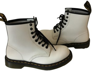 Dr. Martens Leather Classic White Boots