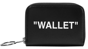 Off-White™ Black Printed Textured-leather Wallet