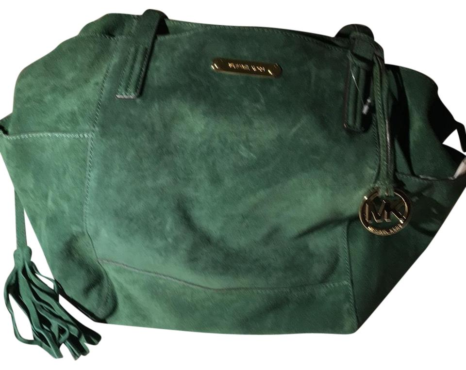 9e9e9ac4c73c Michael Kors Ashbury Dark Green Suede Leather Hobo Bag - Tradesy