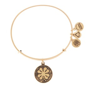 Alex and Ani Four Leaf Clover Bangle Bracelet