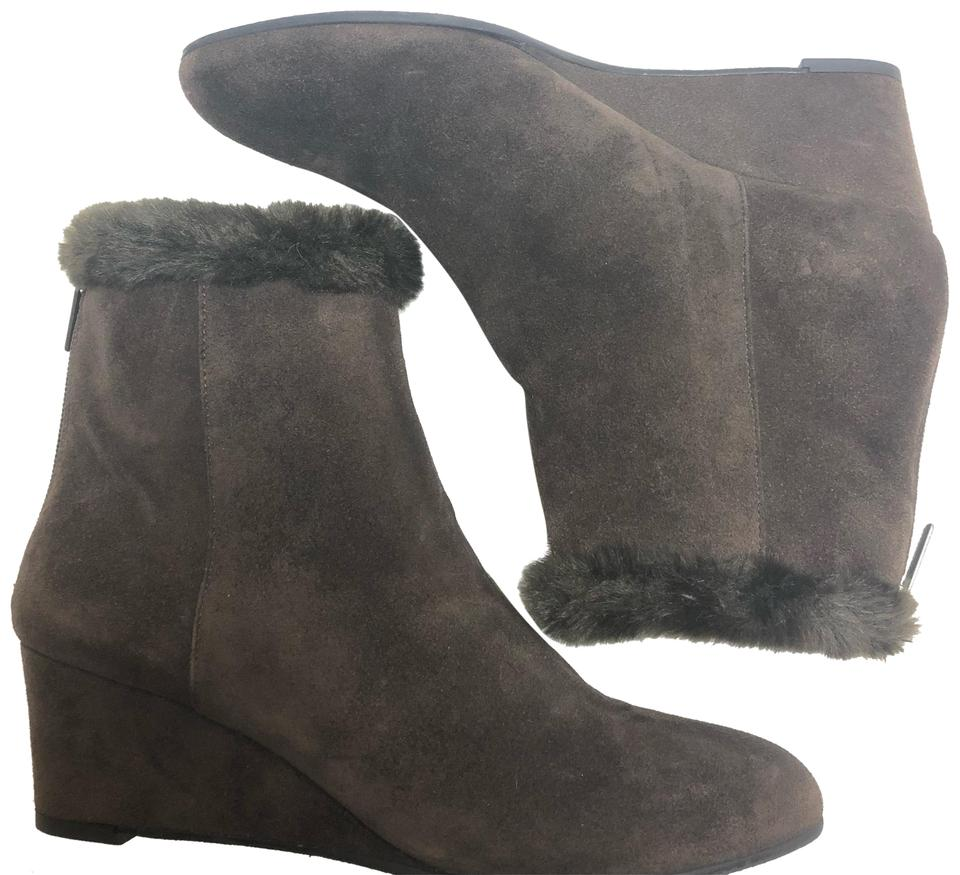 bae5a4ec45e Aquatalia Dark Brown 'jinx' Espresso Wedge Boots/Booties Size US 8.5  Regular (M, B) 71% off retail
