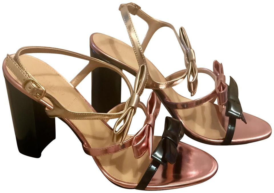 c0f97a5480f J.Crew Metallic Teal Collection Stella Bow Heels (100mm) In Emerald ...