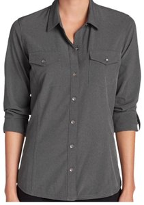 Eddie Bauer Button Down Shirt Grey