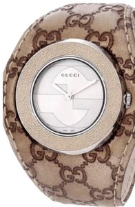 Gucci GUCCI U-play Watch YA129425 Gold Stainless Steel 35mm GUCCISSIMA LEATHER BAND GUCCI