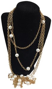Neiman Marcus Neiman Marcus Pearl and chain long necklace
