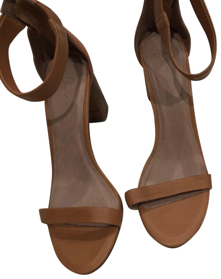 5ae1e7cd557a Joie Tan Leather Heels Sandals Size US 7.5 Regular (M