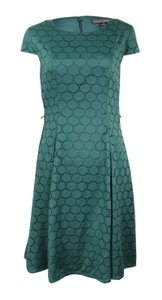 Jessica Howard Lace Eyelet Fit And Flare Dress