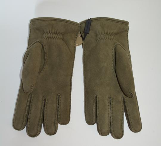 Burberry NWT BURBERRY SHEARLING LINED SUEDE LEATHER GLOVES SZ 8 Image 2