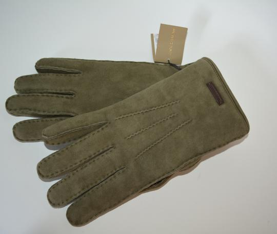 Burberry NWT BURBERRY SHEARLING LINED SUEDE LEATHER GLOVES SZ 8 Image 3