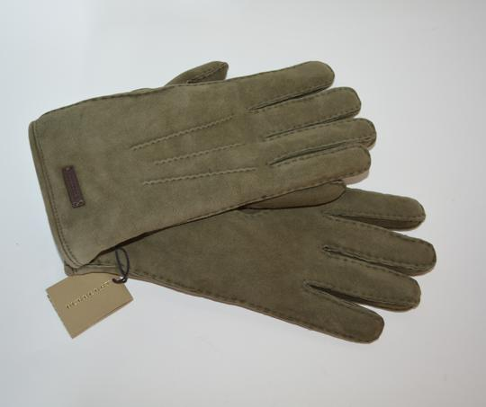 Burberry NWT BURBERRY SHEARLING LINED SUEDE LEATHER GLOVES SZ 8 Image 4
