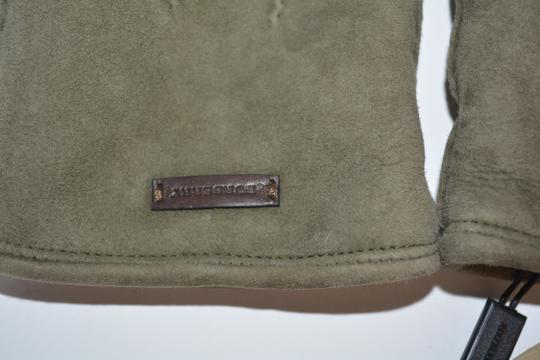 Burberry NWT BURBERRY SHEARLING LINED SUEDE LEATHER GLOVES SZ 8 Image 5