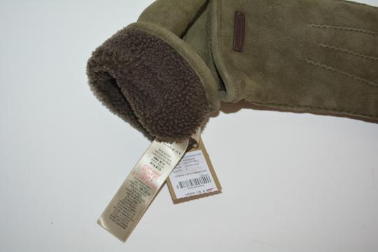Burberry NWT BURBERRY SHEARLING LINED SUEDE LEATHER GLOVES SZ 8 Image 6