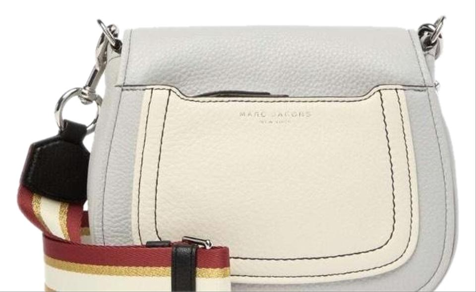 4dc311c2b Marc Jacobs Empire City Light Gray Leather Cross Body Bag - Tradesy