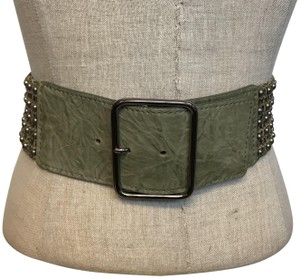 Streets Ahead Streets Ahead Leather Studded Belt Size Small