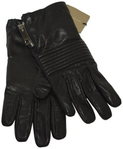 Burberry NWT BURBERRY BLACK LEATHER BRITGLOVE GLOVES SZ 7.5