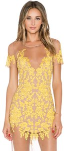 Yellow and Nude Maxi Dress by For Love & Lemons