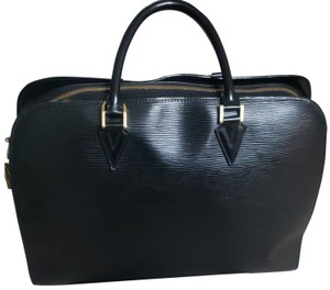 Louis Vuitton Business Travel Epi Briefcase Satchel in Blacks