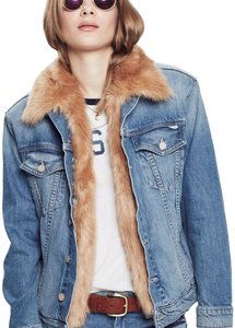 Mother Denim with Tan detachable Faux Fur Womens Jean Jacket
