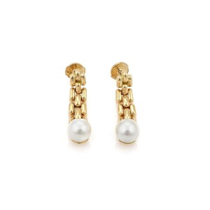 4614a3e21b6 Cartier 19778  Pearls Maillon Panther Links 18k Gold Dangle W Paper ...