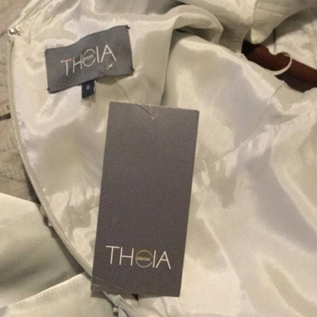 Theia Silver - 881879 Beaded Cowl Collar Evening Gown Long Formal Dress Size 6 (S) Theia Silver - 881879 Beaded Cowl Collar Evening Gown Long Formal Dress Size 6 (S) Image 8