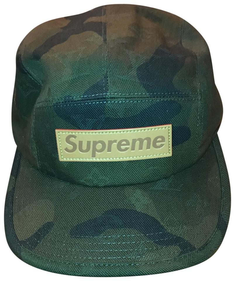 61a99296d50a1 Louis Vuitton x Supreme Louis Vuitton x Supreme Limited Edition Camouflage  Cap Image 0 ...