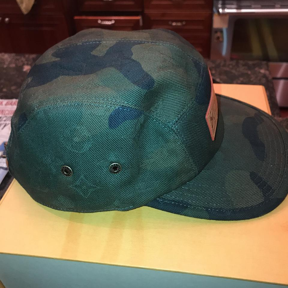 526ab79502b Louis Vuitton x Supreme Camo Limited Edition Camouflage Cap Hat - Tradesy