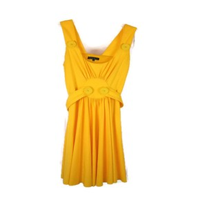 Lyndia Procanik short dress Yellow Summer Bright Cheery Large Buttons on Tradesy