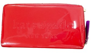 Kate Spade Patent leather Clutch Style Zip Around Wallet