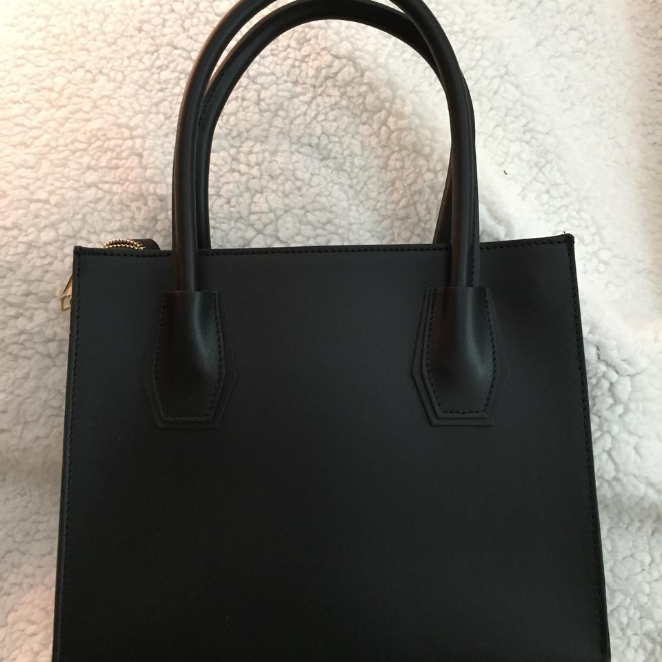 54dd58bf6774 BCBGMAXAZRIA Black Leather Tote - Tradesy