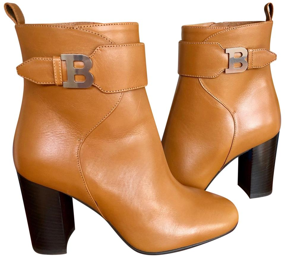 Bally Light Brown Tindy Ankle Boots Booties Size US 6 Regular (M 72cf8c594a