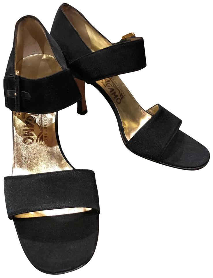 4da38c92c0d7 Salvatore Ferragamo Black Strappy Sandals Flats. Size  US 7 Regular (M ...