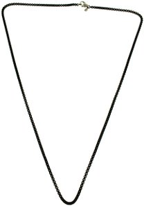 David Yurman David Yurman 2.7 mm round box chain in black stainless steel 26 inches