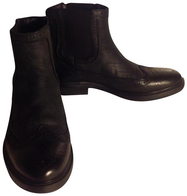 Item - Black Leather Chelsea Boots/Booties Size US 7 Regular (M, B)