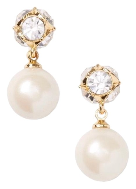 Kate Spade Cream/Gold Lady Marmalade Pearl Drop Earrings Kate Spade Cream/Gold Lady Marmalade Pearl Drop Earrings Image 1