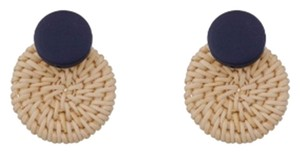 Private Collection Basket Circle Statement Earrings