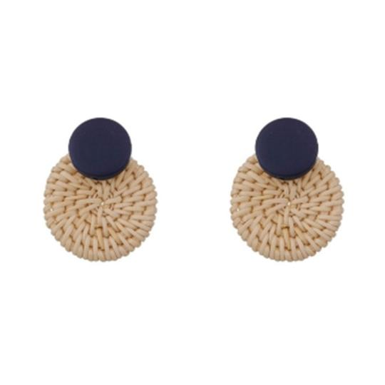 Private Collection Basket Circle Statement Earrings Image 1