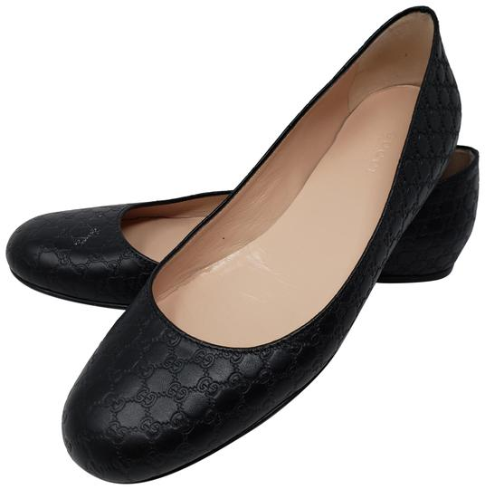 Preload https://img-static.tradesy.com/item/24498971/gucci-black-leather-guccissima-printed-round-toe-flats-size-eu-385-approx-us-85-wide-c-d-0-3-540-540.jpg